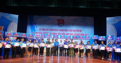 Tổng kết chiến dịch thanh niên tình nguyện hè và trao giải thưởng Chi đoàn tiên tiến làm theo lời Bác năm 2017
