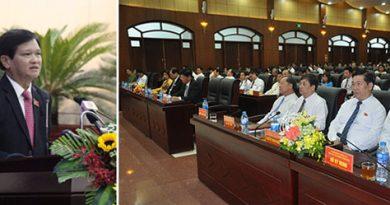 Chủ tịch HĐND thành phố Đà Nẵng Nguyễn Nho Trung phát biểu bế mạc kỳ họp thứ 7 HĐND thành phố khoá IX