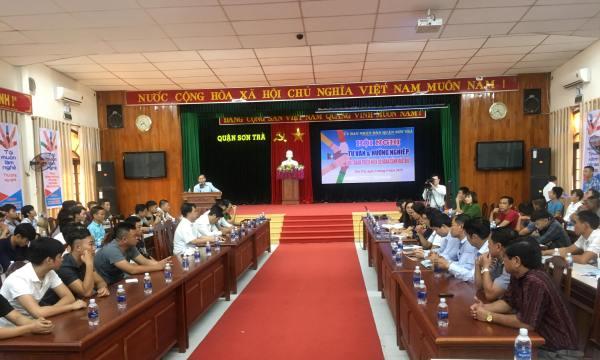 Quận Đoàn Sơn Trà phối hợp tổ chức tư vấn và hướng nghiệp  cho thanh thiếu niên có hoàn cảnh đặc biệt