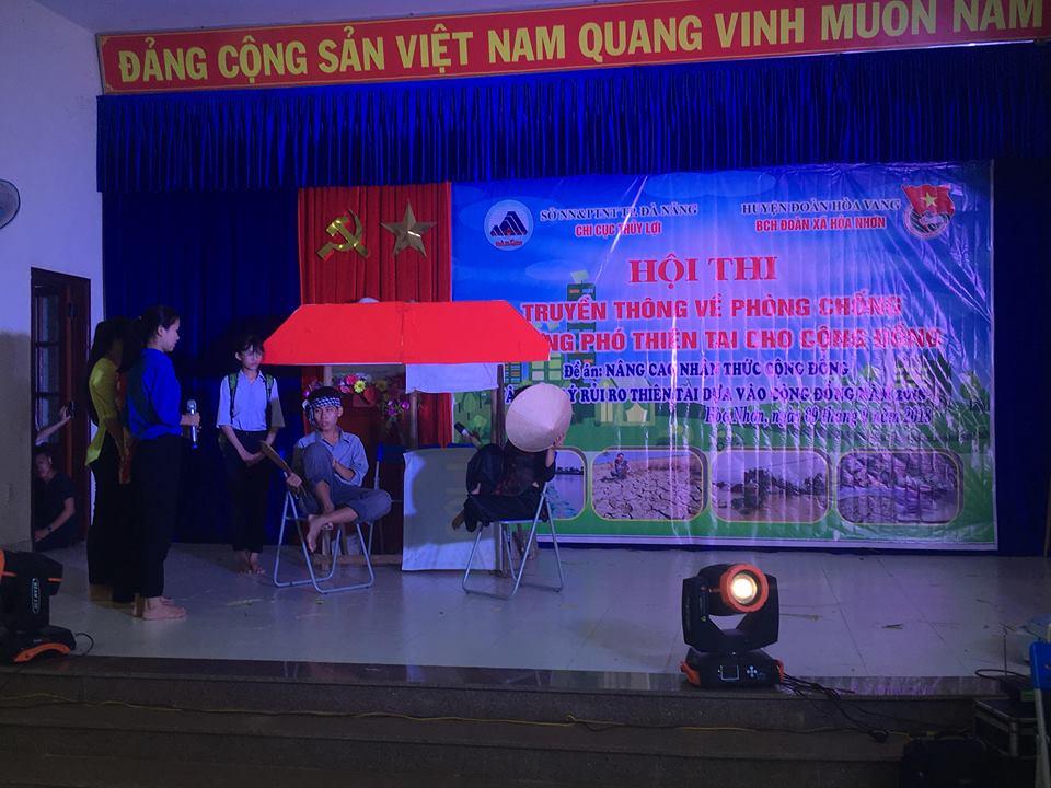 Hội thi tuyên truyền về phòng chống và ứng phó thiên tai cho cộng đồng tại Hòa Vang