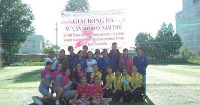 Giải bóng đá giao hữu nữ cán bộ đoàn năm 2018  và tổng kết Hội thi nhảy Flashmob thành phố.