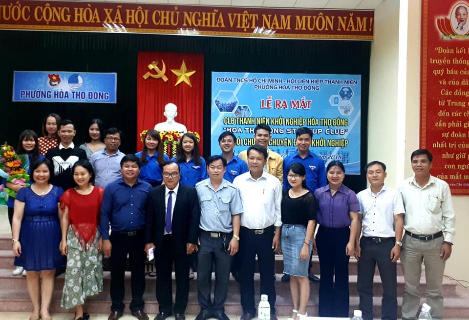 Đoàn TNCS Hồ Chí Minh – Hội Liên Hiệp Thanh Niên phường Hòa Thọ Đông tổ chức lễ công quyết định thành lập và ra mắt Câu lạc bộ Thanh niên khởi nghiệp Hòa Thọ Đông.
