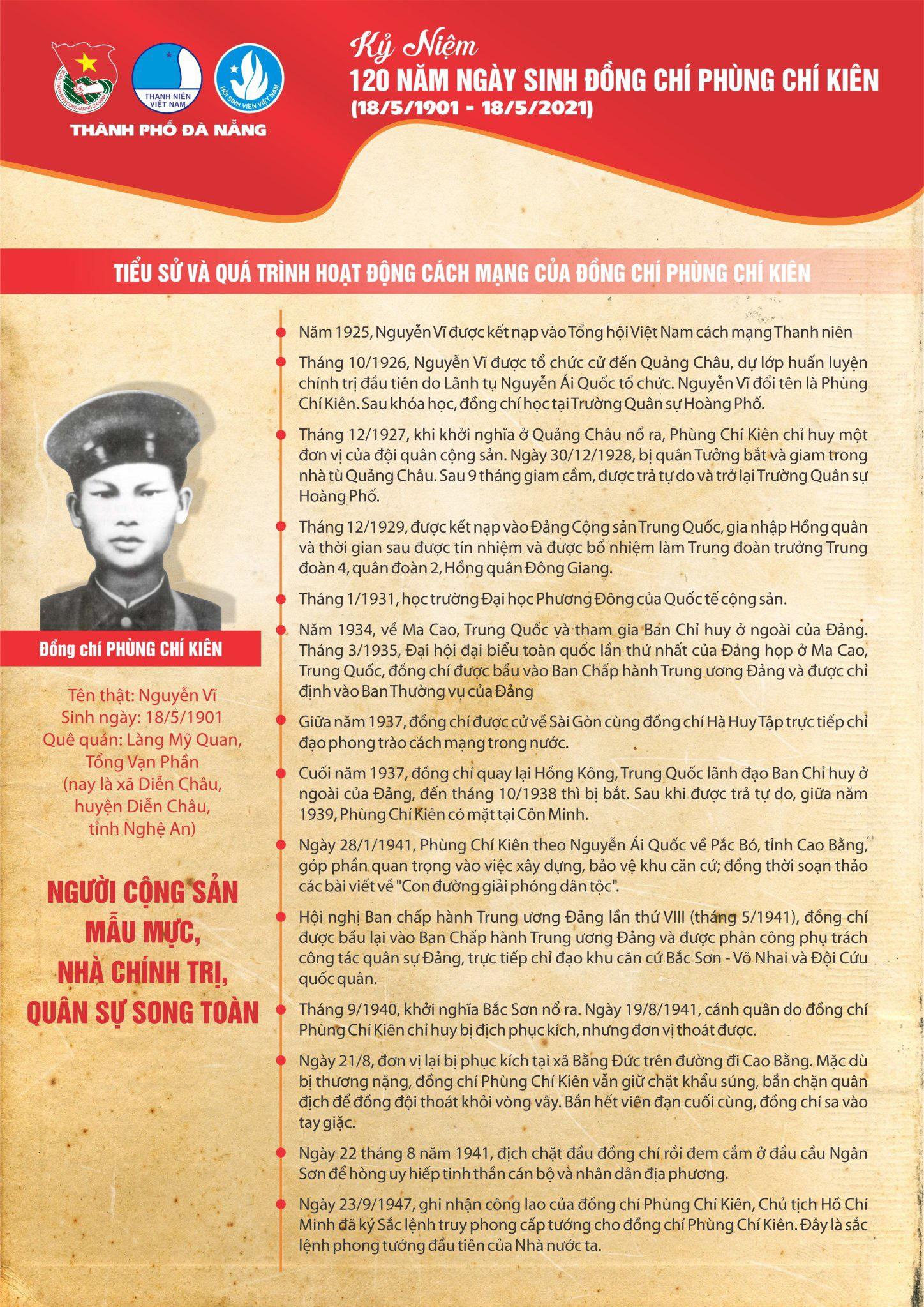 Kỷ niệm 120 năm ngày sinh của đồng chí Phùng Chí Kiên (18/5/1901 – 18/5/2021)