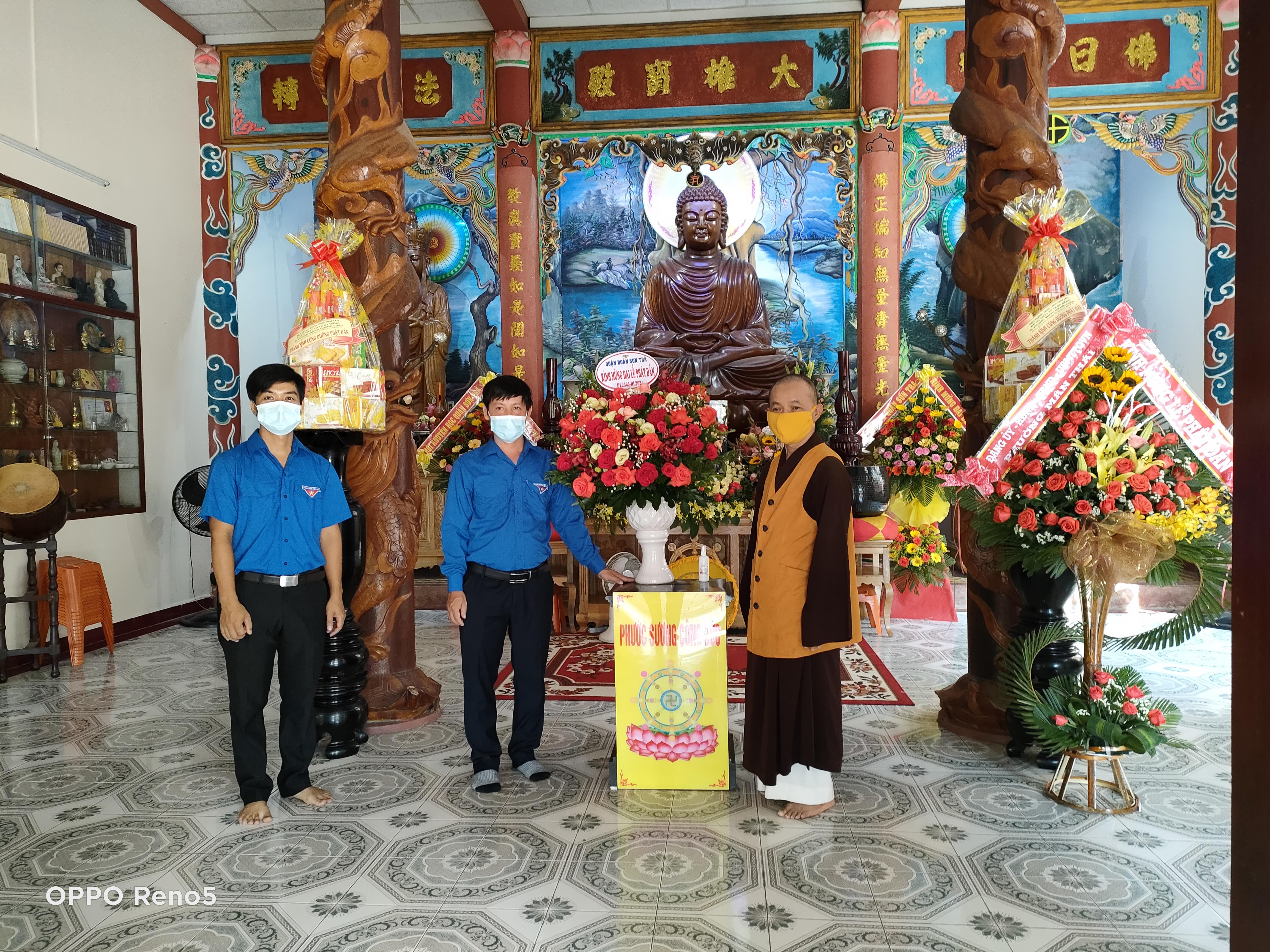 Quận Đoàn – Hội LHTN quận Sơn Trà thăm Ban Trị sự Giáo hội Phật giáo Việt Nam quận